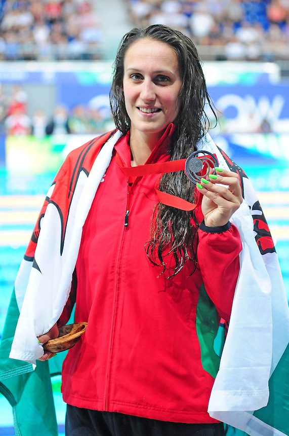 Wales&rsquo; Georgia Davies poses her silver medal for the women&rsquo;s 100m backstroke final when she finished second<br /> <br /> Photographer Chris Vaughan/CameraSport<br /> <br /> 20th Commonwealth Games - Day 3 - Saturday 26th July 2014 - Swimming - Tollcross International Swimming Centre - Glasgow - UK<br /> <br /> &copy; CameraSport - 43 Linden Ave. Countesthorpe. Leicester. England. LE8 5PG - Tel: +44 (0) 116 277 4147 - admin@camerasport.com - www.camerasport.com