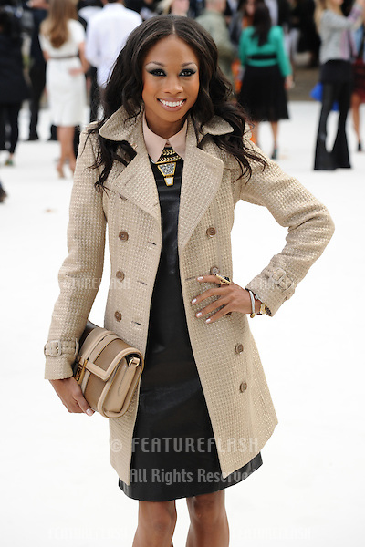US sprinter Allyson Felix arriving for the Burberry Prorsum catwalk show as part of London Fashion Week SS13, Kensington Gardens, London. 17/09/2012 Picture by: Steve Vas / Featureflash