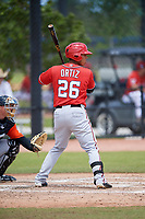 Washington Nationals Oliver Ortiz (26) during a Minor League Spring Training game against the Miami Marlins on March 28, 2018 at FITTEAM Ballpark of the Palm Beaches in West Palm Beach, Florida.  (Mike Janes/Four Seam Images)