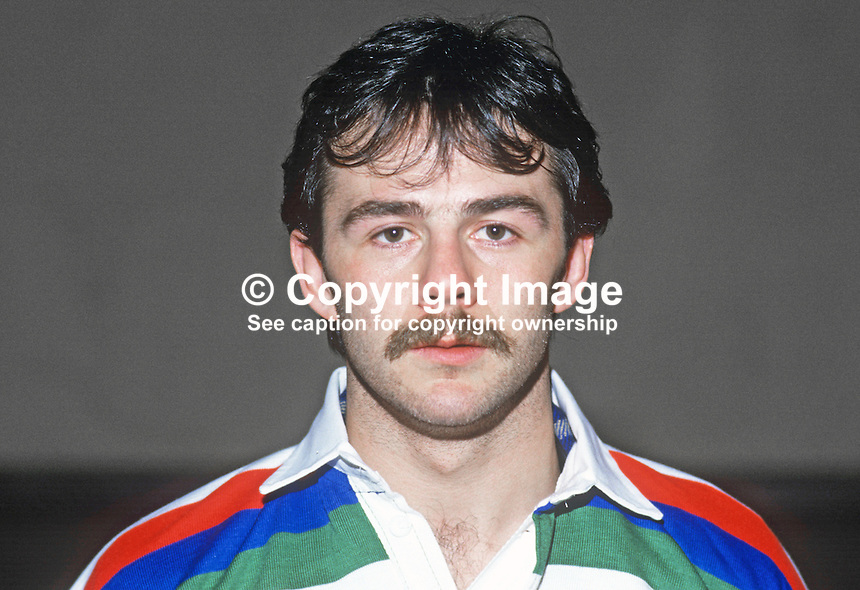 John McDonald, rugby player, Malone RFC, Irish International, 19860107JMD1.<br />
