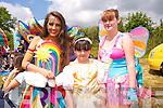 Ruby the Rainbow Fairy, Tamara Edmunds and Sarah Cashman from Kilflynn and Listowel  at the Enchanted Fairy Festival in Kilflynn on Sunday