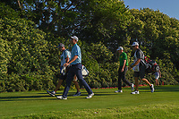 Justin Rose (GBR) and Aaron Wise (USA) head down 12 during round 2 of the Fort Worth Invitational, The Colonial, at Fort Worth, Texas, USA. 5/25/2018.<br /> Picture: Golffile | Ken Murray<br /> <br /> All photo usage must carry mandatory copyright credit (&copy; Golffile | Ken Murray)