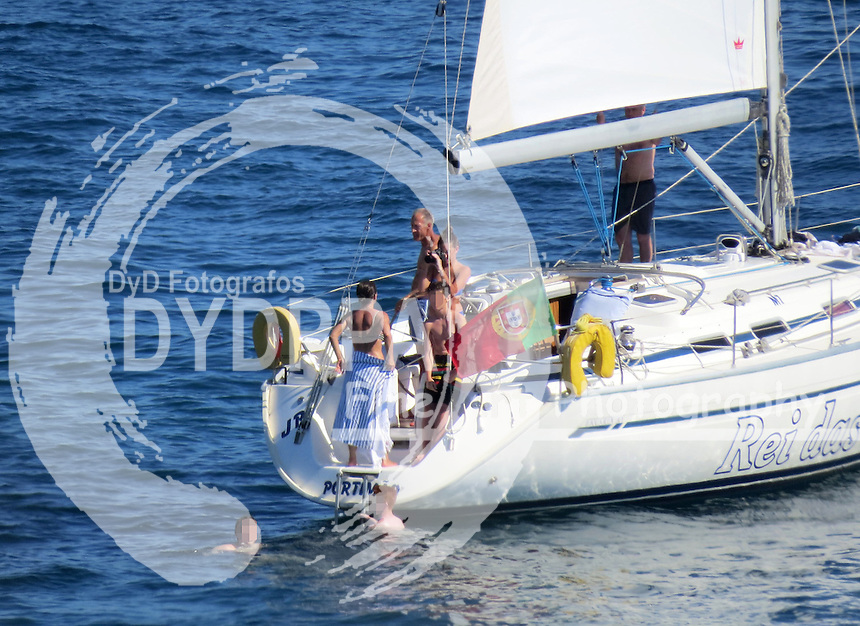 **ALL ROUND EXCLUSIVE PICTURES FROM SOLARPIX.COM**<br /> **WORLDWIDE SYNDICATION RIGHTS -PORTUGAL OUT**                                                                                  Caption:<br /> Portuguese football manager of English club Chelsea FC Jose Mourinho seen enjoying a days sailing with his family &amp; friends in the Algarve in Portugal<br /> <br /> This pic:Jose Mourinho<br /> JOB REF:18340  PLX   DATE:28.06.15<br /> **MUST CREDIT SOLARPIX.COM OR DOUBLE FEE<br /> WILL BE CHARGED**<br /> **MUST AGREE FEE BEFORE ONLINE USAGE**<br /> **CALL US ON: +34 952 811 768 or LOW RATE FROM UK 0844 617 7637**