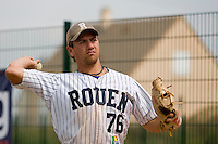 12 Aug 2007: Philippe Lecourieux warms up prior to game 5 of the french championship finals between Templiers (Senart) and Huskies (Rouen) in Chartres, France. Huskies defeated Templiers 9-8 to win their fourth french championship.