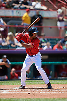 Erie SeaWolves Derek Hill (11) at bat during an Eastern League game against the Harrisburg Senators on June 30, 2019 at UPMC Park in Erie, Pennsylvania.  Erie defeated Harrisburg 4-2.  (Mike Janes/Four Seam Images)
