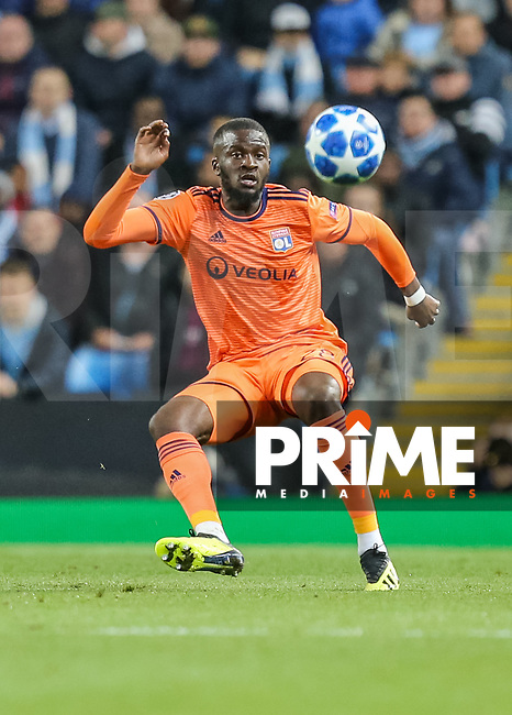 Tanguy NDOMBELE of Olympique Lyonnais during the UEFA Champions League match between Manchester City and Olympique Lyonnais at the Etihad Stadium, Manchester, England on 19 September 2018. Photo by David Horn / PRiME Media Images.