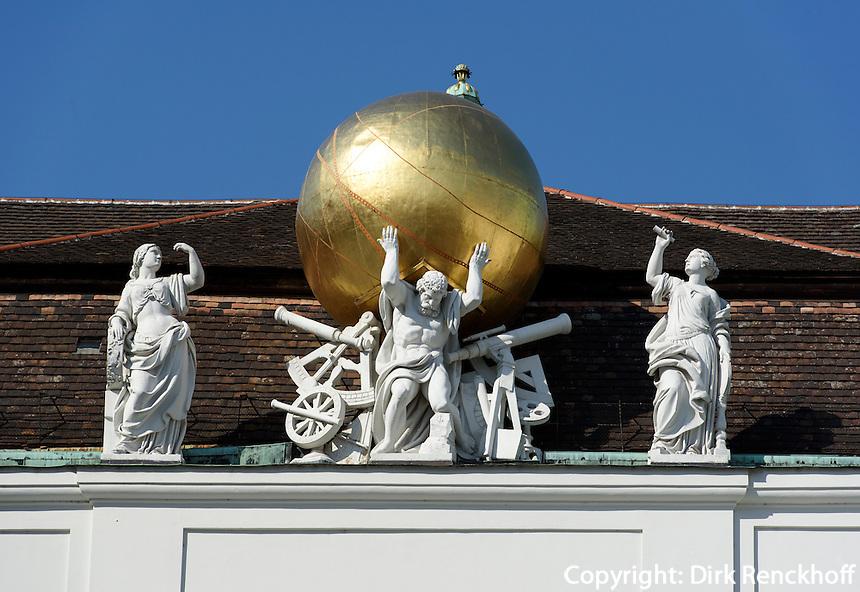 Dachfries am Josefsplatz, Wien, &Ouml;sterreich, UNESCO-Weltkulturerbe<br /> roof detail at Josef Square, Vienna, Austria, world heritage