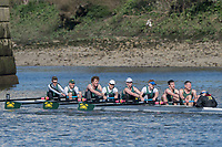 Mortlake/Chiswick, GREATER LONDON. United Kingdom. Crabtree RC. competing in the 2017 Vesta Veterans Head of the River Race, The Championship Course, Putney to Mortlake on the River Thames.<br /> <br /> <br /> Sunday  26/03/2017<br /> <br /> [Mandatory Credit; Peter SPURRIER/Intersport Images]