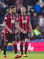 Callum Wilson (right)  of AFC Bournemouth during the Premier League match between Bournemouth and Arsenal at the Goldsands Stadium, Bournemouth, England on 14 January 2018. Photo by Andy Rowland.