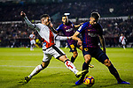 Adrian Embarba Blazquez of Rayo Vallecano (L) fights for the ball with Clement Nicolas Laurent, Clement Lenglet, of FC Barcelona during the La Liga 2018-19 match between Rayo Vallecano and FC Barcelona at Estadio de Vallecas, on November 03 2018 in Madrid, Spain. Photo by Diego Gouto / Power Sport Images