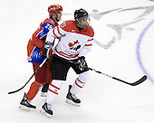 Nikita Filatov (Russia - 28), Evander Kane (Canada - 29) - Canada defeated Russia 6-5 on Saturday, January 3, 2009, at Scotiabank Place in Kanata (Ottawa), Ontario during the 2009 World Junior Championship.