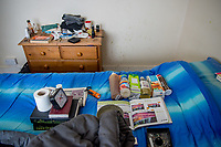Homelessness in Sheffield - living in a squat. UK