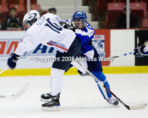 Kyle Palmieri (US - 10), ? - Team USA defeated Team Finland 3-2 to win the Four Nations Cup (Under-18 boys) on Saturday, November 9, 2008 in the 1980 Rink in Lake Placid, New York.