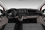 Stock photo of straight dashboard view of 2016 Volkswagen Transporter - 5 Door Passenger Van Dashboard
