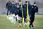 St Johnstone Training&hellip;22.01.19   McDiarmid Park<br />Tony Watt pictured during a snowy training session this morning ahead of tomorrow night&rsquo;s game against Livingston.<br />Picture by Graeme Hart.<br />Copyright Perthshire Picture Agency<br />Tel: 01738 623350  Mobile: 07990 594431