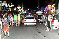 Pictured: The strip in Malia, Crete, Greece. STOCK PICTURE<br /> Re: Police have found the remains of the body in a well near a cemetery in Malia, on the Greek island of Crete with local news outlets speculating that it maybe that of 20 year old Briton Steven Cook who went missing on the 1st of September 2005. A disposable camera and a belt were reportedly found next to the remains.