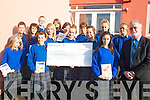 HOSPICE: Students of Presentation Secondary School handing over a cheque for EUR1,000 to Michea?l O'Su?illeabha?in, PRO of the Kerry Hospice, at the school on Friday last.   Copyright Kerry's Eye 2008