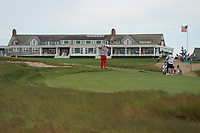 Marc Leishman (AUS) hits his second shot on the 18th hole during the third round of the 118th U.S. Open Championship at Shinnecock Hills Golf Club in Southampton, NY, USA. 16th June 2018.<br /> Picture: Golffile | Brian Spurlock<br /> <br /> <br /> All photo usage must carry mandatory copyright credit (&copy; Golffile | Brian Spurlock)