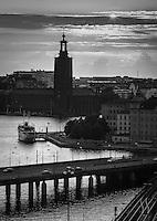 Stadshuset i solnedgång Stockholm