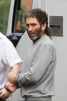Pictured: Simon Winstone arrives at Merthyr Tydfil Magistrates Court. Friday 01 June 2018<br /> Re: Simon Winstone, 49, is due to appear before Merthyr Tydfil Magistrates Court charged with the murder of Michelle Denise Rosser.<br /> The body of 38 year old Ms Rosser, 38, was found on 29 May after South Wales Police was called to an address in Lewis Street, Bedlinog.