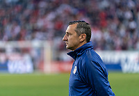 HARRISON, NJ - MARCH 08: Vlatko Andonovski of the United States watches his team during a game between Spain and USWNT at Red Bull Arena on March 08, 2020 in Harrison, New Jersey.