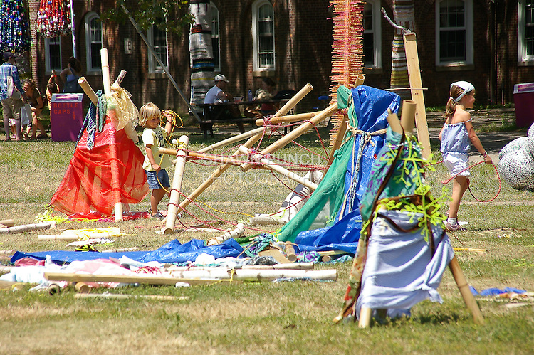Children's play area, during my Governors Island bike ride on July 17, 2011. http://tinyurl.com/4342uth