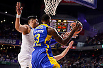 Real Madrid's Gustavo Ayon and Maccabi Fox's Sonny Weens during Turkish Airlines Euroleague match between Real Madrid and Maccabi at Wizink Center in Madrid, Spain. January 13, 2017. (ALTERPHOTOS/BorjaB.Hojas)