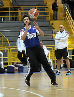 BOGOTA - COLOMBIA - 20-09-2014: Jugadores del Club Real Madrid de España del Real Madrid, durante entrenamiento en el Coliseo El Salitre de Bogota, previo al partido por la Copa EuroAmericana de Baloncesto que se realiza en Bogota. / Plyers of Club Real Madrid of Spain,  during training at the Coliseum El Salitre de Bogota, the pregame EuroAmericana Basketball Cup to be held in Bogota. Photo: VizzorImage / Luis Ramirez / Staff.