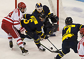 Bobo Carpenter (BU - 14), Alex Carle (Merrimack - 6), Collin Delia (Merrimack - 1), Marc Biega (Merrimack - 4) - The visiting Merrimack College Warriors defeated the Boston University Terriers 4-1 to complete a regular season sweep on Friday, January 27, 2017, at Agganis Arena in Boston, Massachusetts.The visiting Merrimack College Warriors defeated the Boston University Terriers 4-1 to complete a regular season sweep on Friday, January 27, 2017, at Agganis Arena in Boston, Massachusetts.