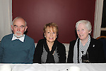 Liam and Maureen McGough and Ann Matthews pictured at Refelections on Reaghstown and Westerns GFC 1951-2011 book launch in Dooley's restaurant Edmondstown. Photo: Colin Bell/pressphotos.ie