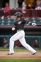 Erie SeaWolves shortstop Gustavo Nunez (12) during a game against the Bowie Baysox on May 12, 2016 at Jerry Uht Park in Erie, Pennsylvania.  Bowie defeated Erie 6-5.  (Mike Janes/Four Seam Images)