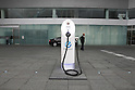 July 13, 2010 - Yokohama, Japan - An electric vehicle charging dock is pictured at Nissan Global Headquarters in Yokohama, Japan, on Tuesday, July 13, 2010.