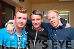 Fight Night : Pictured at the Fight Night held at the Listowel Community Centre on Friday night last were Andrew Nihill, Derek Dillon & Johnny Murphy.