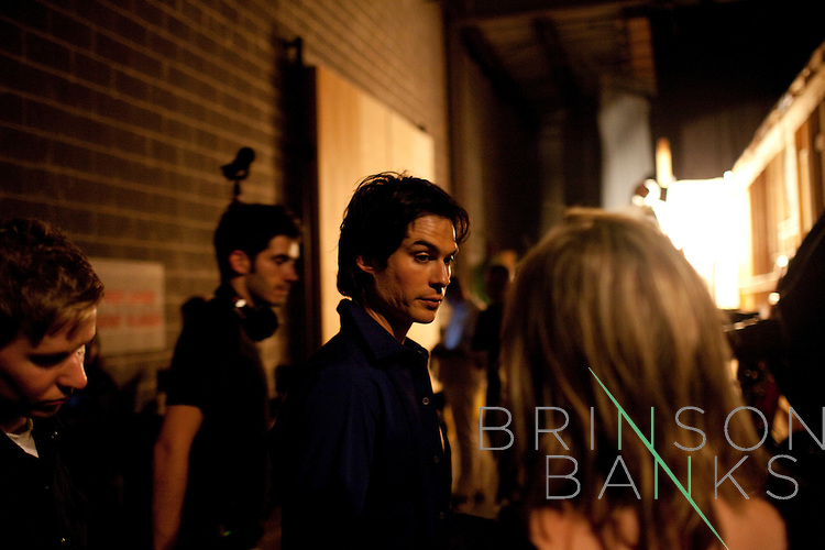 Actor Ian Somerhalder, who plays Damon Salvatore, on the set of the season three premiere of The Vampire Diaries in Decatur, Georgia July 18, 2011.