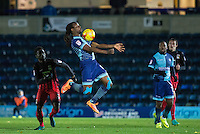 Marcus Bean of Wycombe Wanderers controls the ball during the The Checkatrade Trophy Southern Group D match between Wycombe Wanderers and Coventry City at Adams Park, High Wycombe, England on 9 November 2016. Photo by Andy Rowland.