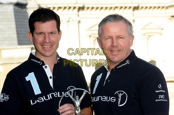 LONDON, UK - FEBRUARY 26 - Sean Fitzpatrick and Tim Henman attending The Laureus World Sports Awards - nominations announcement, at<br /> The Grange Hotel St Pauls, London on Wednesday, February 26, 2014. <br /> CAP/CJ<br /> &copy;Chris Joseph/Capital Pictures