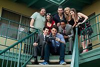 Will Davis (Miles Teller), Ethan (Christopher Mintz-Plasse), Luke (Brandon T. Jackson), Fernando (Jorge Garcia), Tanya Sellers (Alison Brie), Charlie (Nicholas Braun), Tara (Cameron Richardson) and Jillian Stewart (Anna Kendrick)