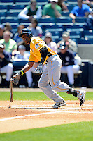 Pittsburgh Pirates outfielder Sterling Marte #6 during a Spring Training game against the New York Yankees at Legends Field on March 28, 2013 in Tampa, Florida.  (Mike Janes/Four Seam Images)