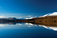 The Glen Etive Mountains reflected in Loch Tulla, Argyll & Bute