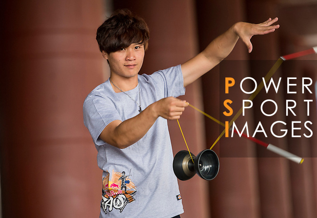 Chao Yu-Sung poses for a portrait ahead the Red Bull PAO 2015 at the National Taiwan Science Education Centre in Taipei, Taiwan. Photo by Aitor Alcalde / Power Sport Images
