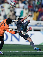 Jack McInerney against Cuthbert Seengwa. US Men's National Team Under 17 defeated Malawi 1-0 in the second game of the FIFA 2009 Under-17 World Cup at Sani Abacha Stadium in Kano, Nigeria on October 29, 2009.