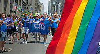 Citicorp workers in the the 44th annual Lesbian, Gay, Bisexual and Transgender Pride Parade on Fifth Avenue in New York on Sunday, June 30, 2013. The turn out for the parade was especially large with the recent Supreme Court decision overturning the Defense of Marriage Act (DOMA) and California's Proposition 8.  (© Richard B. Levine)