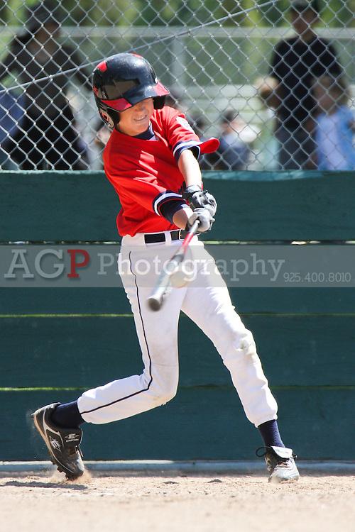 PNLL Junior 80's Cardinals action at the Pleasanton Sports Park Saturday May 21, 2011. (Photo by AGP Photography).