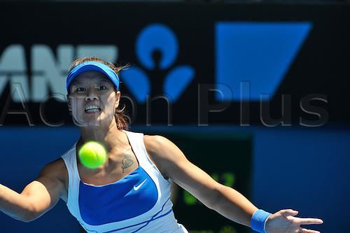 28.01.2010 Australian Open Tennis, day 11, Melbourne, Australia. Serena Williams (USA) Vs Na Li (CHN).