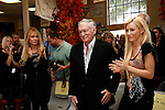 Dyan Cannon and Hugh Hefner with Crystal Harris at a ceremony where Hugh Hefner receives first founder's 'Hero of the Hearts' award from Children of the Night on November 18, 2010 in Van Nuys, Los Angeles, California.