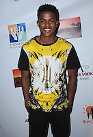 "WEST HOLLYWOOD, CA - APRIL 14:  Trevor Jackson at the ""Road to Hope"" charity event at Bootsy Bellows on April 14, 2014 in West Hollywood, California. (Photo by PGSK/Starlitepics.)"