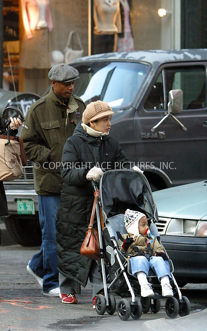 ***EXCLUSIVE***..Comedian David Chappelle and his family taking a stroll in New York's trendy SoHo. New York, February 2, 2003. ..Please byline: Alecsey Boldeskul/NY Photo Press.   ..*PAY-PER-USE*      ....NY Photo Press:  ..phone (646) 267-6913;   ..e-mail: info@nyphotopress.com