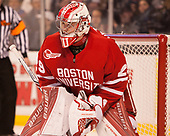 Jake Oettinger (BU - 29) - The Boston University Terriers defeated the Boston College Eagles 3-1 in their opening Beanpot game on Monday, February 6, 2017, at TD Garden in Boston, Massachusetts.