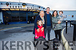 People home for Christmas arriving at Kerry Airport on Monday were l-r  Pam Holbrook, Isabel Sweeney, Roger Holbrook, Nicola Sweeney and Joshua Sweeney from Cromane