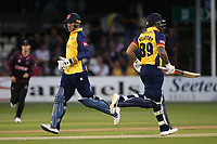 Tom Westley and Cameron Delport add to the Essex total during Essex Eagles vs Somerset, Vitality Blast T20 Cricket at The Cloudfm County Ground on 7th August 2019